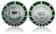 By Your Command Geocoin Satin Silver Green LE