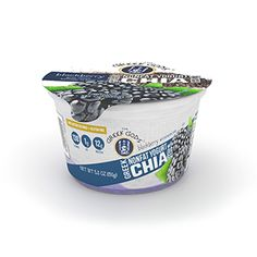 New dairy products: Greek Gods' new nonfat Greek yogurt with chia seeds Strawberry Varieties, Nonfat Greek Yogurt, Gram Of Sugar, Vanilla Yogurt, Ben And Jerrys Ice Cream, Greek Gods, Chia Seeds, Blackberry, Protein