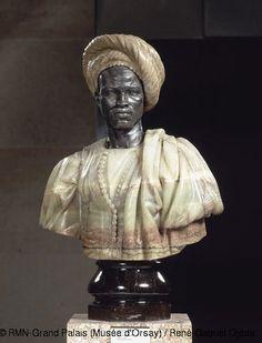 Charles Cordier,Nègre du Soudan, 1856-57, buste en bronze et onyx avec piédouche en porphyre des Vosges © RMN-Grand Palais (Musée d'Orsay) / René-Gabriel Ojéda