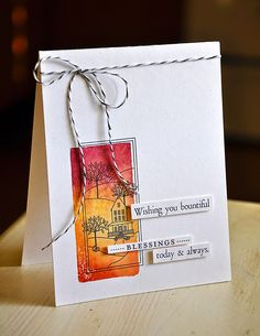 Autumn Hills Revisited: Bountiful Blessings Card by Maile Belles for Papertrey Ink (October 2014)