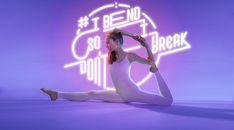 Neon Yoga Photography - Björn Ewers Showcases Neon Typography with the Help of a Professional Yogi (GALLERY) Yoga Asanas Names, Yoga Poses, Yoga Photography, Fashion Photography, Fitness Photography, Funny Yoga Pictures, Photo Yoga, Yoga Art, Ashtanga Yoga