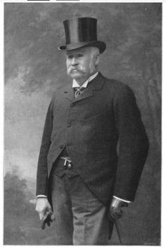 1900 photograph of W. S. Gilbert