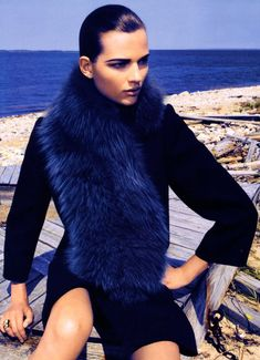 The Big Blue with Bette Franke by Camilla Akrans for Harper's Bazaar US