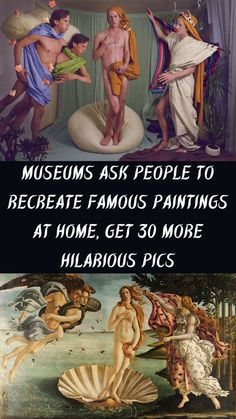 The J. Paul Getty Museum in Los Angeles challenged art lovers to post photos of themselves recreating their favorite masterpieces from home and the response has been massive. #Museums #Recreate #FamousPaintings #30 #HilariousPics