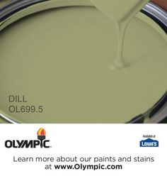 DILL OL699.5 is a part of the greens collection by Olympic® Paint.