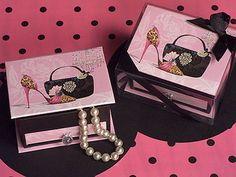 25 Pink High Heel Shoe Leopard Bridal Shower Bachelorette Jewelry Box Favor #Unbranded