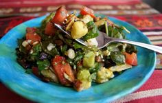 Mexican Chopped Salad with Spiced Pepitas & Honey-Chipolte Lime Dressing