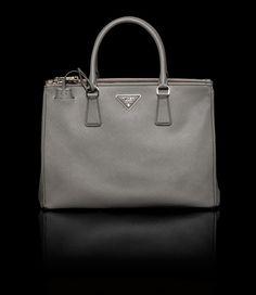 Prada Saffiano Lux Double Zip Tote Bag Marble (BN2274_NZV_F0K44) - L 33 H 23.5 W 14.5 cm