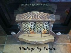 Antique Gas Fireplace/Heater - $125.00 Cash/CC/Paypal Pick up only. Follow me on Facebook and eBay at Vintage by Linda.