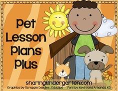 pet theme lesson plans for kindergarten