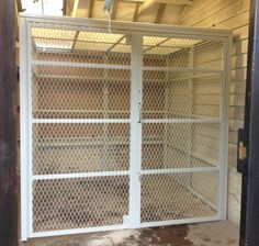 cage fitted in a store in Essex. Cage, Storage, Spring, Larger, Storage Ideas