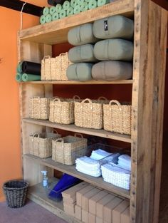 Yoga room storage