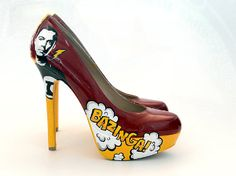 Big Bang Theory-Inspired Comic Heels  #bigbangtheory