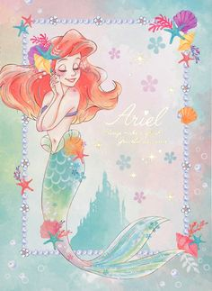 The Little Mermaid, Always Make a Splash. Graceful as a Wave! (japanese notebook)