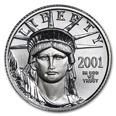2001 1/10 oz Platinum American Eagle BU Issue Brilliant Uncirculated ** You can get additional details at the image link.