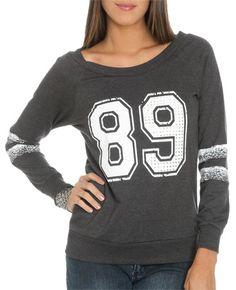 89 Athletic Sweatshirt from WetSeal.com