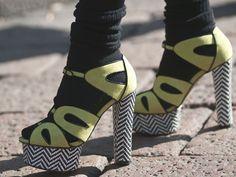 love a chunky heel