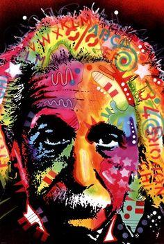 Framed Einstein Print
