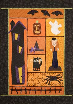 "Halloween Quilt Pattern ""Spook Alley"" at Parties & Patterns"