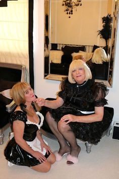Superior Sissy Maid tells off the nice sissy maid about her standard of work.
