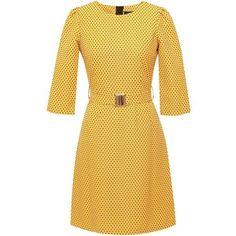 Emily Lovelock - Dress With Sleeves Yellow Polka Dot