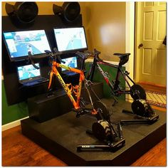 Best Home Gym Setup Ideas You Can Easily Build - The Urban Interior Zwift Cycling, Indoor Cycling, Cycling Equipment, Cycling Tattoo, Rapha Cycling, Exercise Equipment, Cycling Outfit, Best Home Gym Setup, At Home Gym