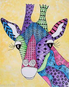 Bildergebnis für zentangle giraffen in gruppen