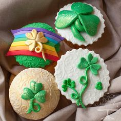 Pretty St. Patrick's Day Cupcakes