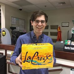 add this to the list of reasons why i love virginia. snagged that v rare tangerine @lacroixwater just now. : some chick who works at harris teeter