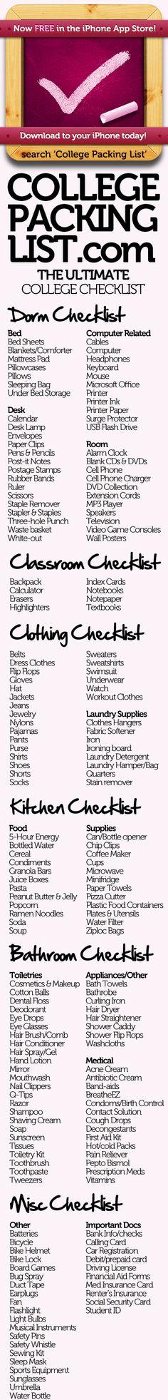 college college college college. College Packing Checklist, Dorm Room Checklist, College Planning, University Checklist, Moving Checklist, Packing Tips, College Apartments, College Dorm Rooms, College Hacks