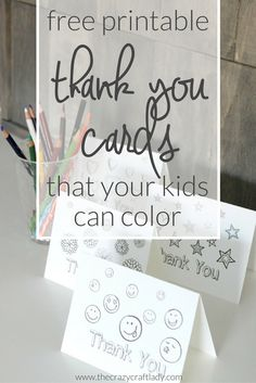 Printable Thank You Card Coloring Sheets - free printable coloring sheets for kids from The Crazy Craft Lady Get your kids started early with making their own thank yous, and let them color these free printable Thank You Card Coloring Sheets. Teacher Appreciation Cards, Teacher Thank You Cards, Thank You Cards From Kids, Thank You Gifts, Kids Cards, Teacher Gifts, Volunteer Appreciation, Teacher Birthday Card, Birthday Cards For Mom