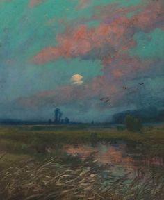 Ferdinand Engelmüller (Czech, 1867-1924), Měsíc [Moon], 1904. Pastel