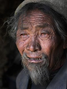 Fading away. An old man in Tibet --Steve Axford Photography