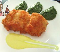 Bacalhau crocante com molho de mostarda