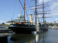 Captain Scott's Discovery berthed at Dundee City harbour