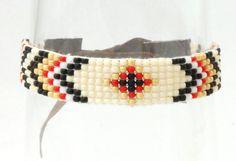 armband kralen geweven bohemian style van mystickytoffee op Etsy, $25.00