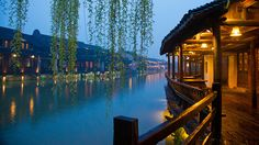 Wuzhen at night • Wu Town, Zhejiang, China • photographed by Xianyi Shen