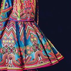 Fashion designer Manish Arora uses his Indian heritage as inspiration. This skirt from Aroras #Indian collection for New Delhi Fashion week S/S 15 incorporates @swarovski crystals into the pattern.#MPIndianTextiles #fashion #swarovski by thempshift