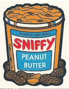 Vintage 80's Mello Smellos PEANUT BUTTER Scratch and Sniff Sticker