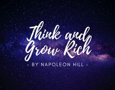Think and Grow Rich is a motivational personal development and self-help book written by Napoleon Hill. Inspired by a suggestion from Scottish-American. Think And Grow Rich, How To Get Rich, Andrew Carnegie, Books For Self Improvement, Napoleon Hill, Self Motivation, Best Selling Books, Book Publishing, Self Help