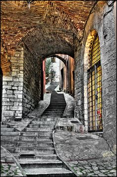 "Todi Italy ""Road on the Steps"" by Maurizio Carlieri, via Flickr"
