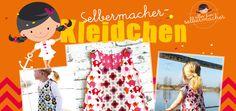 Sommerkleid, Kleid 80-122 I Achtung fällt gross aus, evtl 1 Größe kleiner nähen