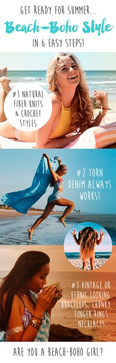 """Get your """"boho"""" on with these easy style tips on how to wear the beach-boho style."""