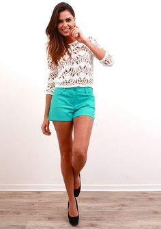 Blusa Tricot e Shorts Cores by Innocence Fashion, via Flickr