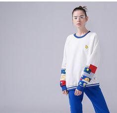 sweater 2017 fashion clothing autumn collection new trend outfit Fashion 2017, Fashion Outfits, Astronaut, New Trends, Korean Fashion, Graphic Sweatshirt, Autumn, Chicken, Clothes For Women