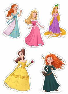 Bubble Stickers, Cute Stickers, Bolo Rapunzel, Disney Princess Birthday, Disney Crafts, Printable Stickers, Cartoon Characters, Printables, Prints