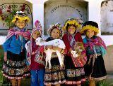 Peru, traditional dress, alpaca, family