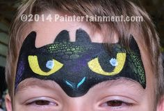 Awesome toothless design by Gretchen Fleener of Paintertainment.com