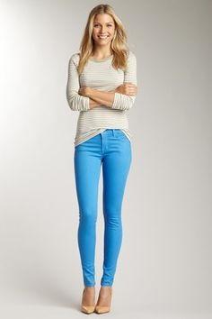 Colored Denim J Brand Jeans Blue Pants