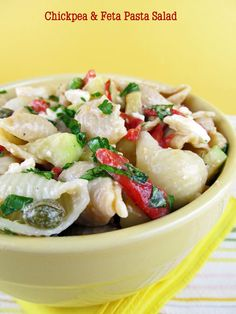 Pasta Salad with Feta and Chickpeas